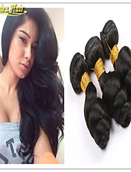 3PCS/Lot Hot Sale 8A Grade 100% Virgin Brazilian Loose Wave Two Hair Curls Extension Hair For Cheap Hair Bundles