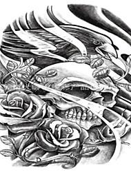 10 Pcs Black Rose Skull Temp Tattoo Stickers