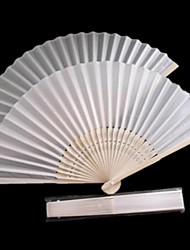 White Polyester Fiber Hand fan - Set of 4