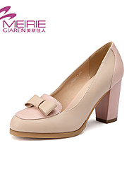 Women's Shoes Faux Leather/Leatherette Chunky Heel Heels/Round Toe/Closed Toe Pumps/Heels