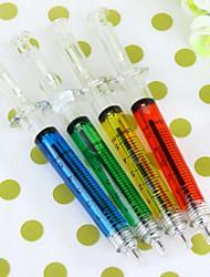 Новый 4шт врач медсестра подарок впрыска жидкости шприц ручка шариковая ручка шариковая (случайный цвет)