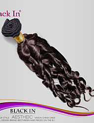 1pcs / lot brésilien spirale de cheveux vierges boucle 100% trame de cheveux humains brun foncé extensions de cheveux non traités