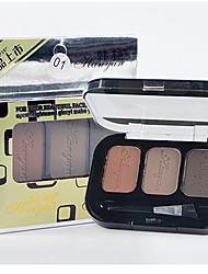 3 Lidschattenpalette Trocken / Mineral Lidschatten-Palette Puder Normal Smokey Makeup