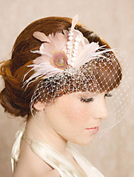 Hand Made Wedding Feather Hair Clip Fascinator Headpieces Fascinators 014