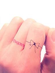 Women's Miniature Finger Ring Jewelry Tatoo Waterproof Fake Tattoo Sticker