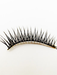 1 Eyelashes lash Full Strip Lashes Eyes The End Is Longer Machine Made Fiber Black Band 0.05mm 12mm