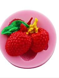 lichia frutas moldes fondant bolo de chocolate em forma de silicone, ferramentas de decoração bakeware