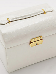 WEST BIKING® Leather Jewelry Box Korea Three Jewelry Storage Box Princess Fashion Series