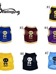 T-shirt voor honden / katten Rood / Zwart / Blauw / Geel / Paars Lente/Herfst XS / S / M / L Katoen
