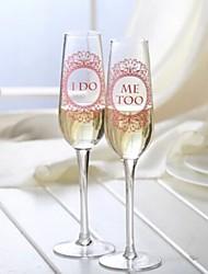 I DO ME TOO champagne glass (Set of 2)