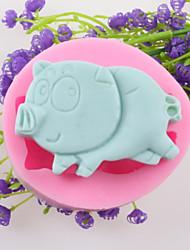 Pig Shaped Fondant Cake Chocolate Silicone Molds,Decoration Tools Bakeware