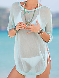 Women's High-low Hemline Sheer Beachwear