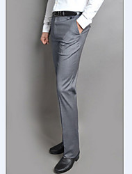 Men's Casual Pure Work Slim Suits Pants