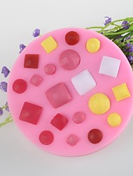 Button Gem Shaped Fondant Cake Chocolate Silicone Mold Mould,Decoration Tools Bakeware