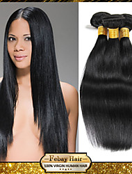 Malaysian Virgin Straight Hair Weaving Natural Black 8-30 inch 1pc/Lot 100G Per Bundle Raw Unprocessed Hair Weft