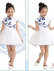 bonito chinois courte robe manches