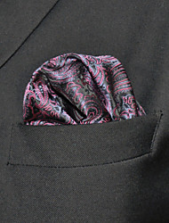 HH17 Shlax&Wing Paisley Dark Purple Pocket Square Mens Hankies Hanky Handkerchief