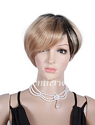 2015 Celebrity Human Hair Wigs 6'' Mixed Color Blonde Virgin Unprocessed Brazilian Glueless None Lace Human Hair Wigs