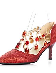 Chaussures Femme - Décontracté - Bleu / Rouge - Talon Aiguille - Talons / Bout Pointu - Talons - Similicuir