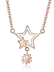 Summer Jewelry Korean 925 sterling silver body chain Cute/Party/Work/Casual Sterling Silver Pentagram Pendant Necklace