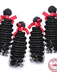 evet peruano grado sin procesar 6a cabello humano suelta la onda peruana extensión virginal 400g 4pcs / lot del pelo teje