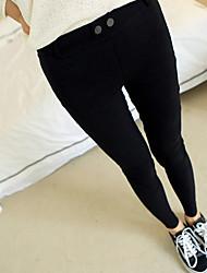 Pantaloni Da donna Skinny Casual Cotone Media elasticità