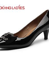 Zapatos de mujer Cuero Tacón Stiletto Tacones/Comfort/Punta Redonda/Punta Cerrada TaconesBoda/Exterior/Oficina y