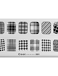 DIY Nail Art Stamp Stamping Image Template Plate/Nail Stencils Geometric Pattern