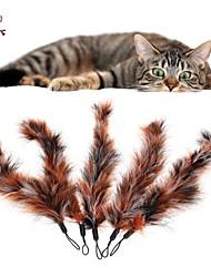Коты / Собаки Игрушки для животных Дразнилки / Игрушка с перьями Конфеты Мультиколор Текстиль
