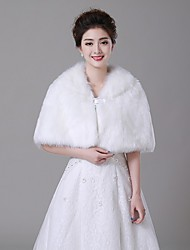Wedding  Wraps Stoles/Capelets Faux Fur Ivory