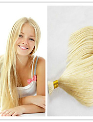 "3Pcs/Lot Factory Cheap Blonde Hair Bulk Blonde Bulk Hair From Peruvian Color 613 Straight Length 14""-32"""