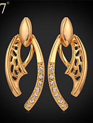 U7® Women's Fashion Jewelry Platinum/18K Real Gold Plated Hot Items Special Design Rhinestone Dangle Earrings
