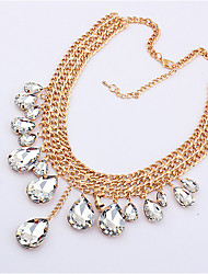 Fashion metal mixing hot water droplets necklace