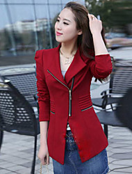 Women's Fashion Casual/Work Long Sleeve Coat , Red/Black/Yellow