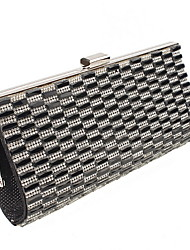 Women 's Other Leather Type Minaudiere Clutch/Evening Bag - Gold/Silver/Black