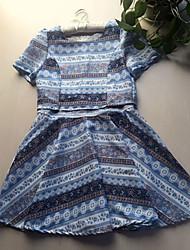 Mini - Vestido - Renda/Sarja - Forrado