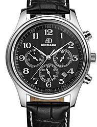 BINKADA Men's Fashion Digital Dial Leather Band Automatic Mechanical wrist Watch(Assorted Colors)