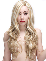 28 Inch Blonde Wigs Synthetic Long Curly Female Wig