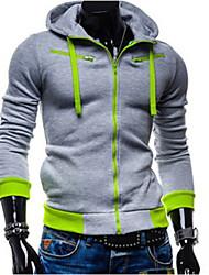 Suéters e Moletons ( Mistura de Algodão ) MEN - Casual / Trabalho Moletom - Manga Comprida