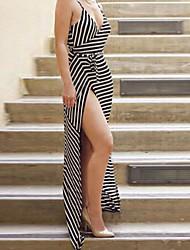 Women's Sexy V Neck Halter Slim Maxi Dress