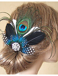 Hand Made Wedding Feather Hair Clip Fascinator Headpieces Fascinators 015