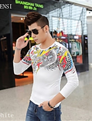 2015 new winter men's dragon stone China style casual long sleeved T-shirt