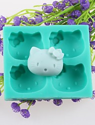 Four Animal Heads Fondant Cake Chocolate Silicone Molds,Decoration Tools Bakeware