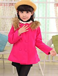 Girl'S Coat Woolen Coat , Winter/Fall