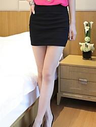 Women's Solid White/Black/Yellow Skirts , Bodycon Mini