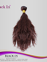 "1 Pcs Lot 8""-30"" Brazilian Natural Wave Virgin Hair Wefts Chocolate Brown 4# Human Hair Weave Wavy Bundles Tangle Free"