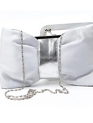 Women 's Silk Baguette Shoulder Bag - Purple/Silver/Black