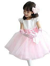 BHL Kid Girls' Sleeveless Pink Event Ball Gown Dresses Wedding Evening Party Dress Ankle Length A-line Dress 3M~8Y