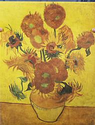 pintura de Van Gogh girassol lona botânico impressão van Gogh impressão giclee um painel matt kraft pronto para pendurar