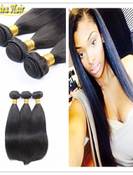 3PCS/lot Free Shipping Cheap Straight Brazilian remy hair extension weaving unprocessed virgin human hair bundles